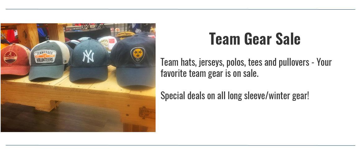 Team Gear Sale