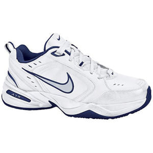 Men's Nike Air Monarch IV (White/Navy/Silver)