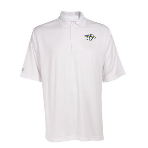 Men's Nashville Predators Exceed Polo (White)