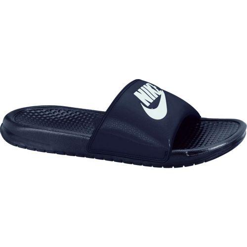 Nike Men's Benassi Just Do It Slide (Navy/Windchill)