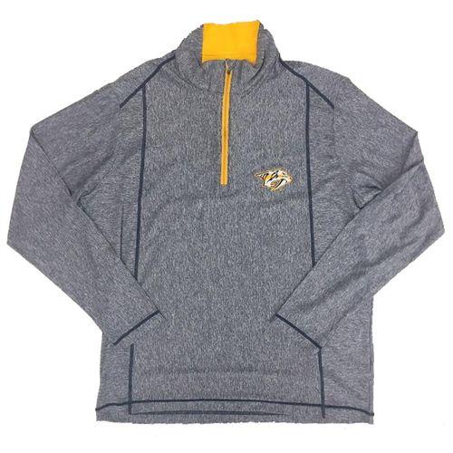 Men's Nashville Predators 1/2 Zip-Up Pullover (Navy/Gold)