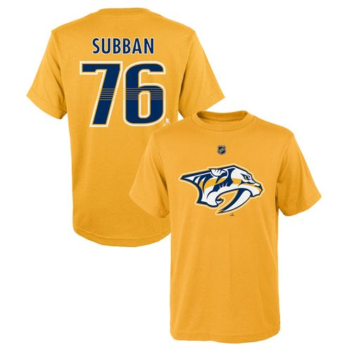 Youth Nashville Predators P. K. Subban Name and Number Short Sleeve T-Shirt