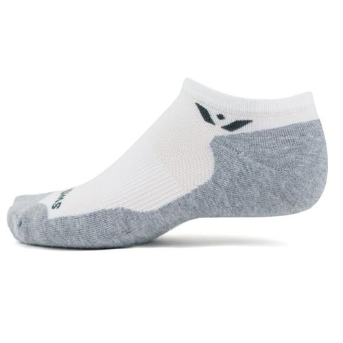 Swiftwick Maxus Zero Maximum Cushion No-Show Sock (White)