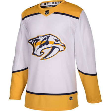 Men's adidas Nashville Predators Authentic Pro Road Jersey (White)