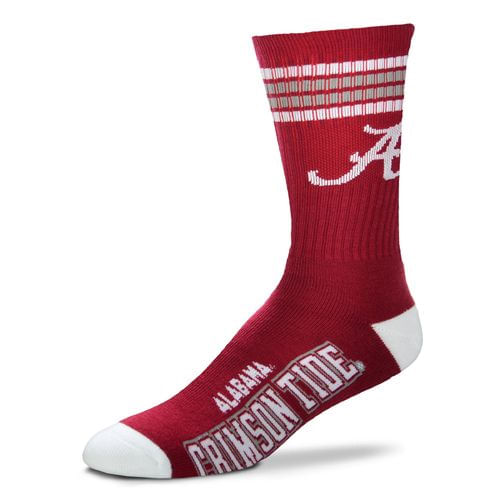 Alabama Crimson Tide 4 Striped Deuce Sock