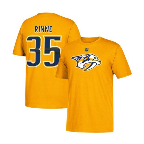 Youth Nashville Predators Pekka Rinne Name and Number Short Sleeve T-Shirt (Gold/Navy)