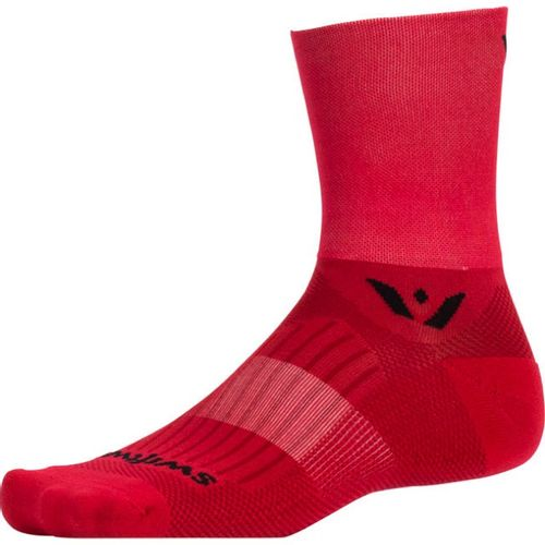 Swiftwick Aspire Four Minimum Cushion Quarter-Crew Sock (Red)