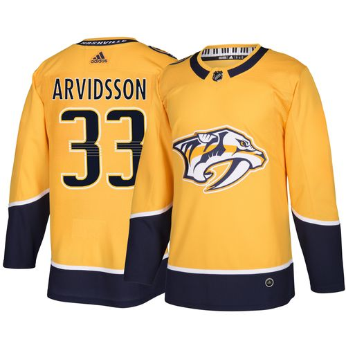 Men's adidas Nashville Predators Viktor Arvidsson Authentic Pro Home Jersey (Gold)