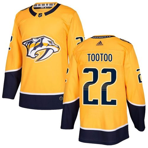 Men's Adidas Nashville Predators Jordin Tootoo Pro Home Jersey (Gold)
