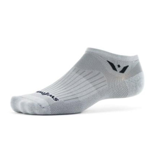 Swiftwick Aspire Zero Minimum Cushion No-Show Sock (Pewter Grey)
