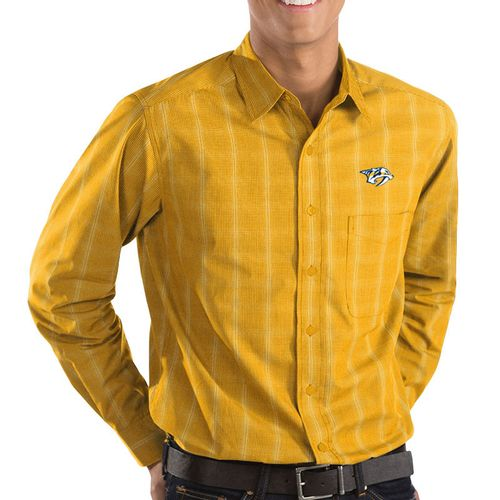 Men's Nashville Predators Agent Button Up Shirt (Gold)