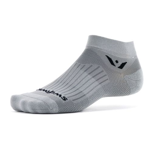 Swiftwick Aspire One Minimum Cushion Ankle Sock (Pewter Grey)