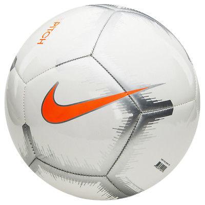 Nike Pitch Soccer Ball (White/Chrome)