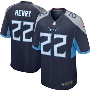 Youth Nike Tennessee Titans Derrick Henry Game Jersey (Navy)