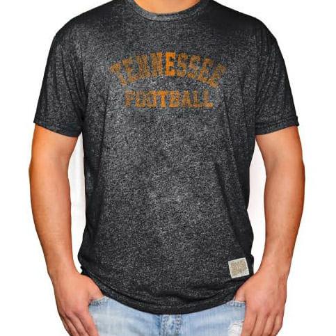 Men's Retro Brand Tennessee Volunteers Football Mikey Short Sleeve T-Shirt (Heather Black)