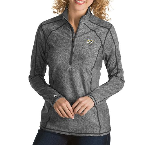 Women's Antigua Nashville Predators Tempo 1/2 Zip Up (Smoke)