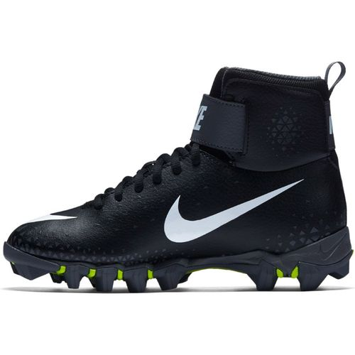 Grade School Nike Force Savage Shark Football Cleat (Black/White)
