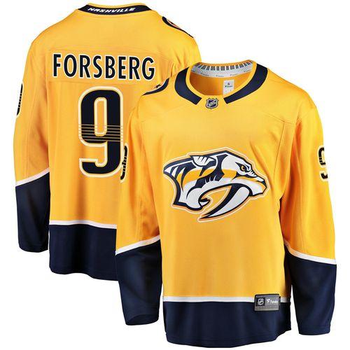 Men's Fanatics Nashville Predators Filip Forsberg Breakaway Home Jersey (Gold)