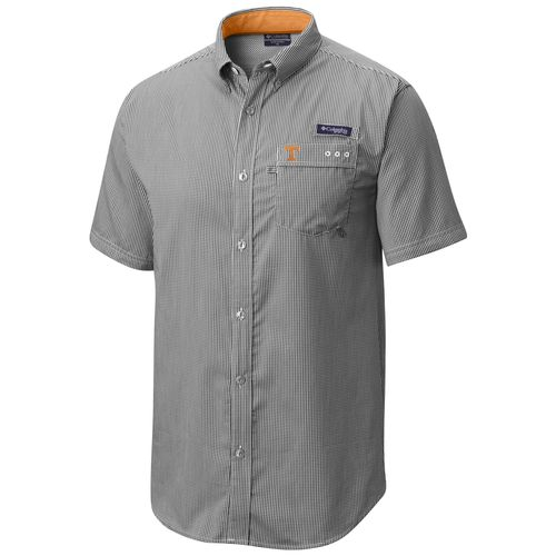 Men's Columbia Tennessee Volunteers Harborside Short Sleeve Button up Shirt (Black/White)