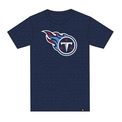 '47 Brand Men's Tennessee Titans Logo Club Short Sleeve T-Shirt (Light Navy)