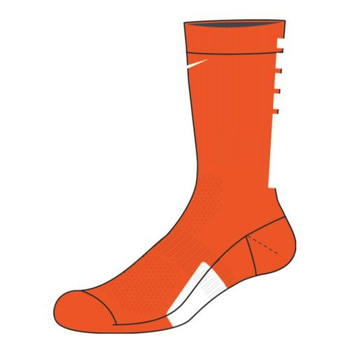 Nike Elite Team Crew Sock (Team Orange/White)