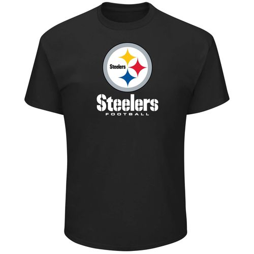 Men's Majestic Pittsburgh Steelers Critical Victory Short Sleeve T-Shirt (Black)