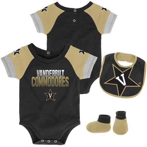Infant Vanderbilt Commodores 50 Yard Dash Onesie Set (Black)