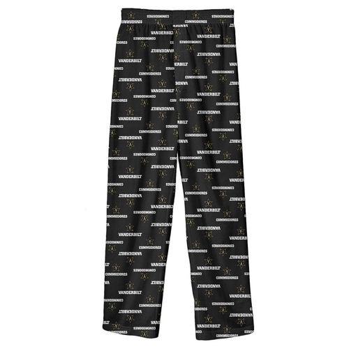 Youth Vanderbilt Commodores Pajama Pant (Black)