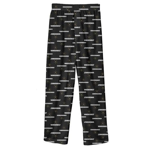 Youth Vanderbilt Commodores Pajama Pant (Black)