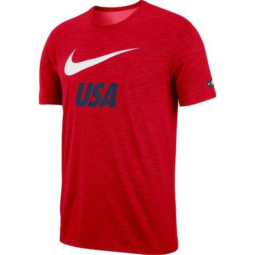 Men's Nike Dry USA Soccer Short Sleeve T-Shirt (University Red)