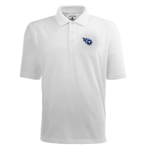 Men's Tennessee Titans Logo Pique Xtra-lite Polo (White)