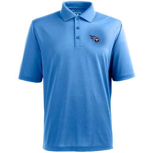 Men's Tennessee Titans Logo Pique Xtra-lite Polo (Light Blue)