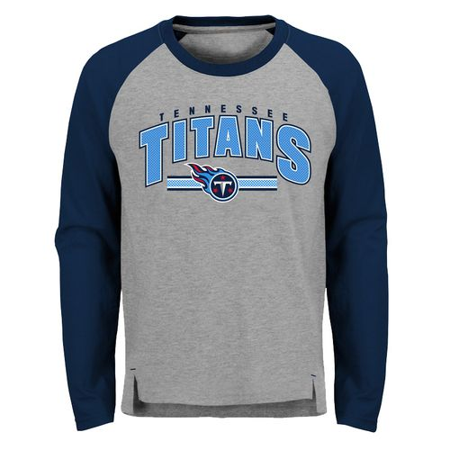 Youth Tennessee Titans Audible Raglan Shirt (Grey)