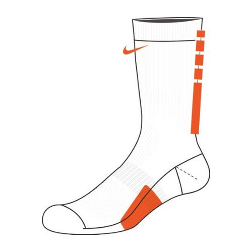 Nike Elite Team Crew Sock (White/Team Orange)