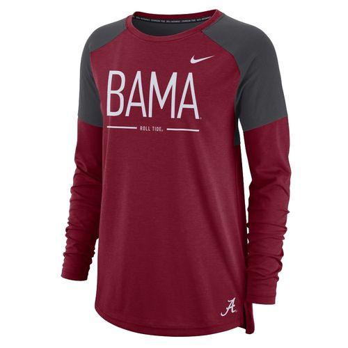 Women's Nike Alabama Crimson Tide Tailgate Long Sleeve Top (Crimson)