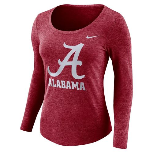 Women's Nike Alabama Crimson Tide Logo Long Sleeve Shirt (Crimson Heather)