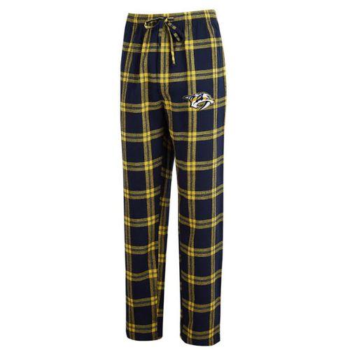 Men's Nashville Predators Home Stretch Flannel Pajama Pant (Navy/Gold)