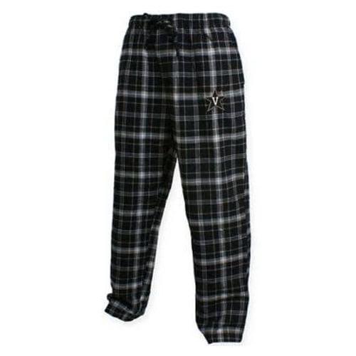 Men's Vanderbilt Commodores Home Stretch Flannel Pajama Pant (Black)