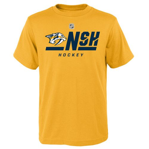 Youth Nashville Predators On Ice Primary Short Sleeve Shirt (Gold)