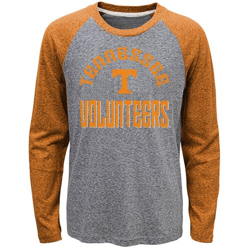 Youth Tennessee Volunteers Gridiron Raglan Long Sleeve T-Shirt (Grey/Orange)