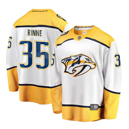 Men's Fanatics Nashville Predators Pekka Rinne Breakaway Road Jersey (White)