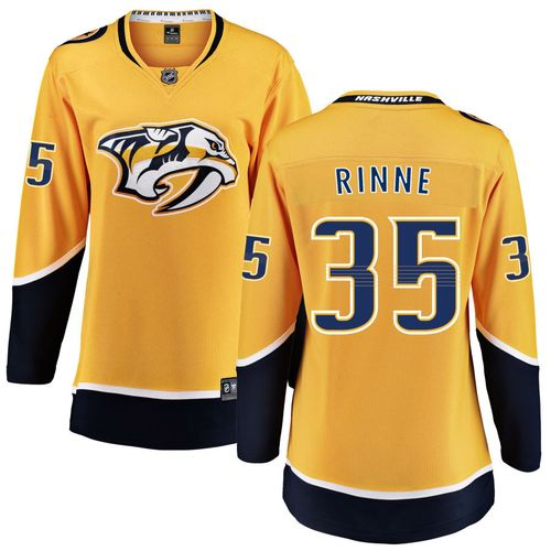 Women's Fanatics Nashville Predators Pekka Rinne Breakaway Home Jersey (Gold)