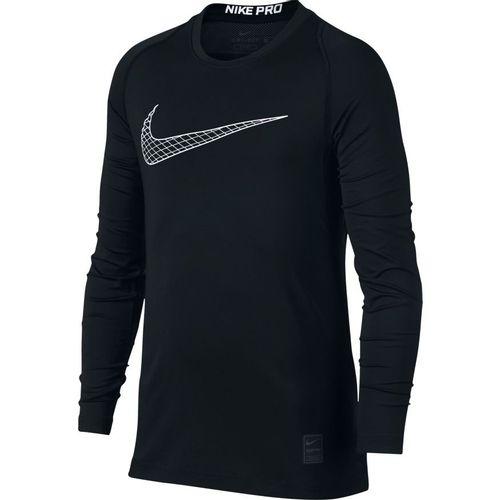 Boy's Nike Pro Long Sleeve T-Shirt (Black)