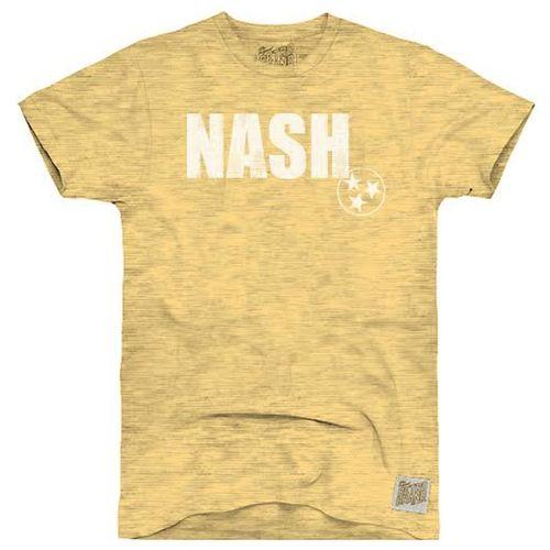 Men's Retro Brand Teddy Slub Nash Short Sleeve T-Shirt (Gold)
