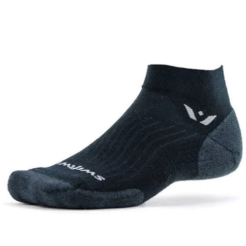Swiftwick Pursuit One Medium Cushion Ankle Sock (Black)