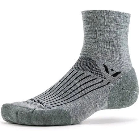 Swiftwick Pursuit Four Merino Short Crew Sock (Heather)