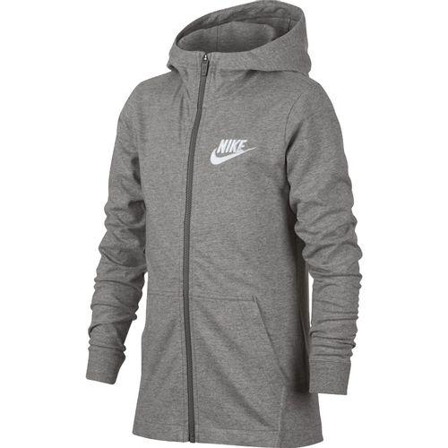 Boys Nike Sportswear Hoodie (Dark Grey Heather/White)