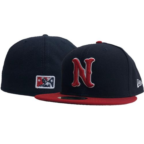 New Era Nashville Sounds Authentic Road Fitted Hat (Navy)