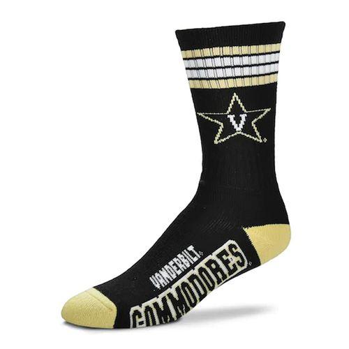 Vanderbilt Commodores 4 Striped Deuce Sock