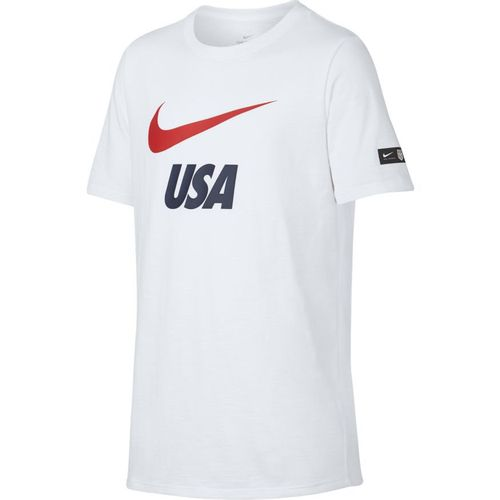 Boy's Nike Dry USA Soccer Short Sleeve T-Shirt (White)